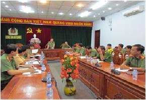 18/7/2017 Bộ Công an kiểm tra công tác ƯPVBĐKH, PCTT&TKCN năm 2017 tại Công an tỉnh An Giang