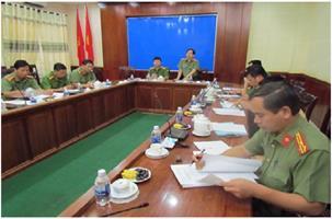18/7/2017 Bộ Công an kiểm tra công tác ƯPVBĐKH, PCTT&TKCN năm 2017 tại Công an tỉnh Kiên Giang