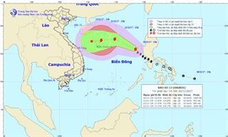 Công điện số 18/CĐ-BCĐ, ngày 10/11/2017 về việc ứng phó với bão số 13