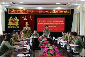 Đoàn công tác Bộ Công an kiểm tra công tác khắc phục hậu quả lũ lụt tại Công an tỉnh Lai Châu