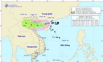 Công điện số 38/CĐ-TW ngày 15/8/2018 của Ban Chỉ đạo TW PCTT về ứng phó với bão số 4